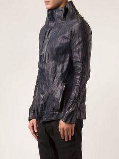 INCARNATION - Origami Leather Jacket - 1941-4667 BLUE - H. Lorenzo