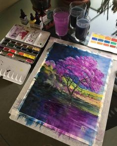 Gorgeous Watercolor Paintings of the Diverse Landscapes Nature Has to Offer Watercolor Landscape Paintings by Adem Potas Watercolor Art Diy, Watercolor Art Paintings, Watercolor Landscape Paintings, Landscape Drawings, Painting & Drawing, Art Drawings, Watercolours, Painting Inspiration, Art Inspo