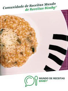 Risoto de farinheira e cogumelos de angelafsarmento. Receita Bimby<sup>®</sup> na categoria Pratos principais Carne do www.mundodereceitasbimby.com.pt, A Comunidade de Receitas Bimby<sup>®</sup>.