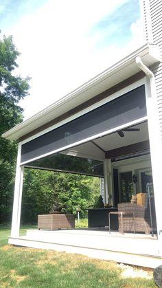 Terrace Design, Deck Design, House Design, Backyard Patio Designs, Pergola Patio, Patio Awnings, Patio Ideas, Patio Shade, Patio Makeover
