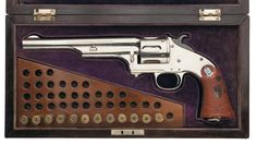 Extremely Rare Early Production Presentation Cased Merwin Hulbert & Co. 1st Type Large Frame Open Top Army Model Revolver Serial Number 92