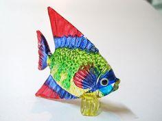 Aquarium Handicraft MINIATURE HAND BLOWN GLASS Fish FIGURINE Collection # 13