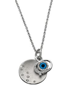Evil eye necklace. I absolutely love evil eye jewelry. Keep those hating' ass mofos away!!
