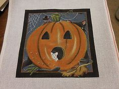 Hand-Painted-Needlepoint-Halloween-Pumpkin-13-Mesh-by-Melissa-Shirley-Designs