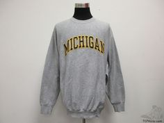 Michigan Wolverines Crewneck Sweatshirt sz XL Extra Large SEWN Brady University #SteveBarrys #MichiganWolverines