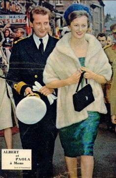 Albert & Paola, Prince & Princess of Liege.1960s