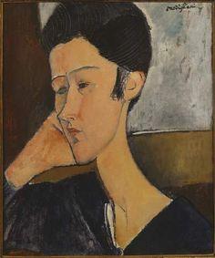 """Enfant ou un Père de l'Art Moderne, Modigliani a sans doute marqué plus par ses inspirations de l'Art dit primitif toute l'aventure picturale et plastique qui commence à la fin du XIXème siècle. J'ai choisi les portraits de cet artiste qu'on a dit """"maudit""""..."""