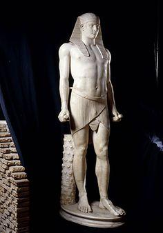 A statue of Antinous-Osiris: Roman marble sculpture (117-138 AD)