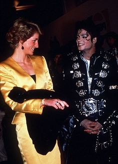 Princess Diana with Michael Jackson