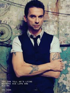 Dave Gahan of Depeche Mode - still hot after all these years.  Yes.
