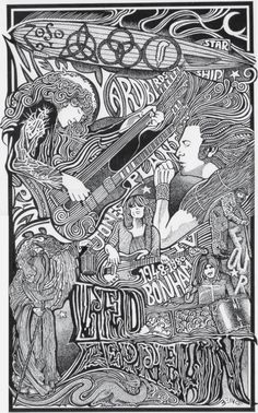 Led Zeppelin Poster Set Two by Posterography on Etsy