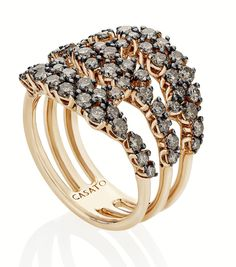 Casato diamond rose gold ring available online, deleuse.com