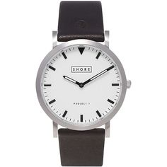 TOPSHOP **Shore Projects Poole White Dial Black Strap Watch (2.713.185 IDR) ❤ liked on Polyvore featuring jewelry, watches, accessories, topshop jewelry, buckle jewelry, white dial watches, pin jewelry e white watches
