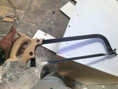 Un arco para metal que le faltaba su mango y se lo hice de madera de Maple