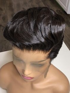 Cute short hairstyles wigs for black women lace front wigs human hair wigs african american wigs the same as the hairstyles in picture buy now Short Cut Wigs, Short Lace Front Wigs, Short Human Hair Wigs, Human Wigs, Front Lace, Short Black Natural Hairstyles, Short Bob Hairstyles, Wig Hairstyles, Black Hairstyles