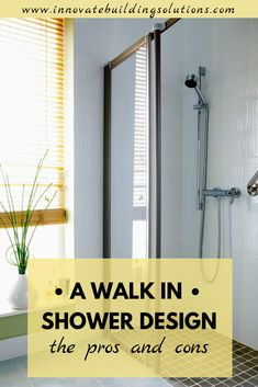 A walk in shower might not be perfect for everyone. However there are a lot of pros and cons involved with having one and we break them down for you here in this article! Innovation, Moving Walls, Walk In Shower Designs, Diy Shower, Shower Ideas, Glass Floor, Types Of Flooring, Polished Concrete, Shower Remodel