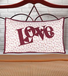 """""""Hearts in Love Sham"""" by Toni Jacobs Burghout (from The Quilter Magazine August/September 2013 issue)"""
