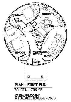 Round/Elliptical Home Plan