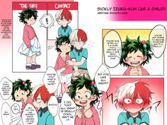 """Part 3 of 4 3 (I didn't wanna split these up) Please read the color page in full-size! Also, about the moment of Shouto thinking """"I?"""" It's because Deku uses the pronoun 僕 (boku) here, which. Boku No Academia, My Hero Academia Shouto, Hero Academia Characters, Deku X Todoroki, Boko No, Haikyuu Karasuno, Cute Comics, Boku No Hero Academy, Anime Ships"""