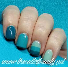 The Call of Beauty: HPB Presents: Aqua Monochromatic Manicure