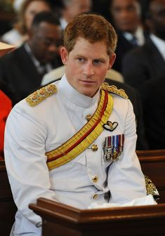 Prince Harry- the most gorgeous ginger and so great that he doesn't care if he is a prince, he is a soldier too. <3
