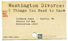 5 things you should know if you are getting divorced in Washington State