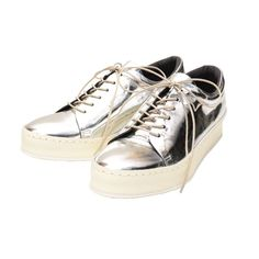 【MAISON EUREKA】【LEATHER TRAINER】。LEATHER TRAINER SILVER