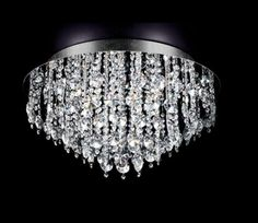 lampara SERIE RING, plafon en cristal strass