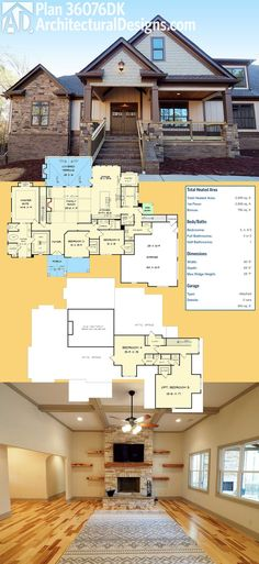Introducing Architectural Designs House Plan 36076DK! It Gives You 3 Beds  On The Main Floor Part 91