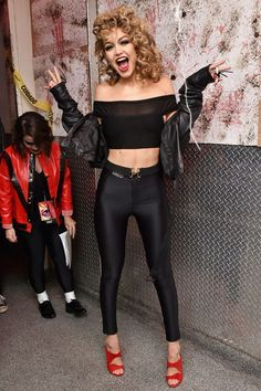 Celebrity Halloween Costume Inspiration Gigi Hadid as Sandy from Grease                                                                                                                                                                                 More