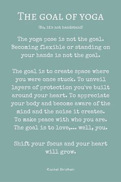 Some yoga inspiration and wise words by the wonderful Rachel Brathen
