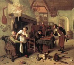 Jan Steen In the Tavern