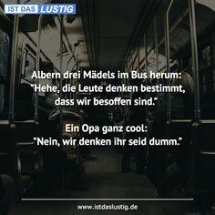 Albern drei Mädels im Bus herum: \