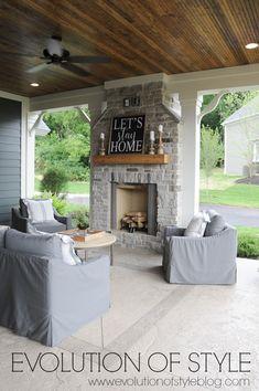 Petite Pergola, Porch Fireplace, Deck With Fireplace, Pergola Patio, Pergola Shade, Pergola Ideas, Porch Ideas, Modern Pergola, Gazebo