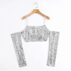 149f3b00643 Buy Women Sexy Sequins Sleeveless Crop Tops Tank Vest Club Party Wear at  Narvay.com