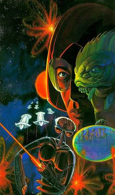 mark wheatley - alpha omega, game by avalon hill games, 1977 Psychedelic Space, Graffiti, Heavy Metal Art, Black Metal, 70s Sci Fi Art, Alien Art, Science Fiction Art, Pulp Fiction, Pulp Art