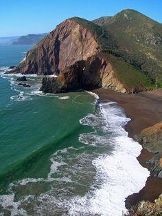 Marin Headlands & Beach hiking trails, near San Francisco, CA