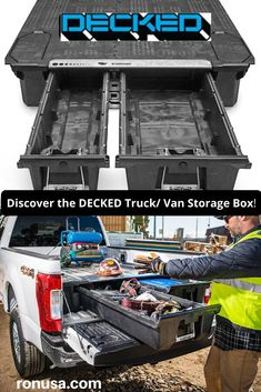 DECKED is the perfect storage box for any Truck and or Van. They are built to handle the toughest of conditions on a daily basis.
