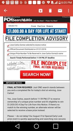 I Jose Carlos Gomez confirm publisher's Clearing House notice of compliance for imminent winners selection final step bulletin. Instant Win Sweepstakes, Online Sweepstakes, Lotto Winning Numbers, Investing Apps, Win For Life, Gomez, Application Letters, Publisher Clearing House, Congratulations To You