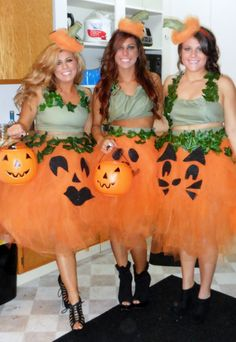 Home-made Pumpkin Halloween Costumes - I love this, how cute!