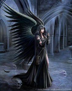 59 Ideas for gothic wallpaper dark fantasy anne stokes Gothic Fantasy Art, Fantasy Kunst, Dark Fantasy Art, Fantasy Artwork, Fantasy Art Angels, Dark Gothic Art, Gothic Artwork, Gothic Wallpaper, Angel Artwork