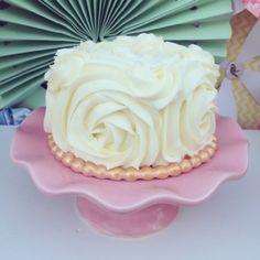 Babies First Birthday- buttercream rosette smash cake