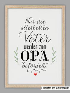 """Originaldruck - """"PAPA und OPA"""" Kunstdruck, Vatertag Geschenk - ein Designerstück von Smart-Art-Kunstdrucke bei DaWanda"""