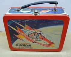 Mike Mercury's Supercar Antique Lunch Box (Vintage 1962 Orbital Food Container Tin Litho Lunchbox, Independent Television Corp. (ITC)