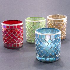 Stained Glass Votive Cup