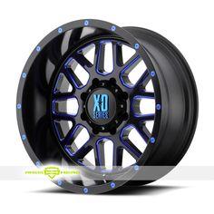 XD Series XD820 Grenade Black Milled Blue Wheels For Sale & XD Series XD820 Grenade Rims And Tires