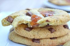salted caramel cookies by milkbubbleteablog, via Flickr