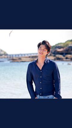Gong Yoo Smile, Yoo Gong, Korean Dramas, Korean Actors, Denim Button Up, Button Up Shirts, Japanese Drama, Drama Film, Goblin