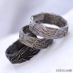 Pearl Engagement and Wedding Ring Women ring Coiled by KREDUM, $99.00