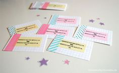 washi tape business card